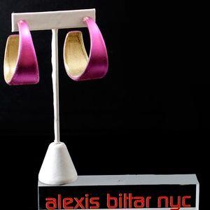 Pink Hoop Earring by Alexis Bittar